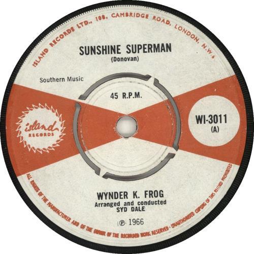 "Wynder K Frog Sunshine Superman 7"" vinyl single (7 inch record) UK WKF07SU446375"