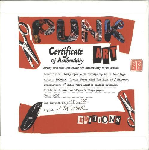 "X-Ray Spex Oh Bondage Up Yours - Punk Art sleeve 7"" vinyl single (7 inch record) UK X-R07OH708117"