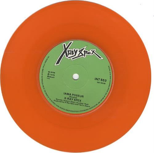 "X-Ray Spex The Day The World Turned Day-Glo - Orange vinyl 7"" vinyl single (7 inch record) UK X-R07TH335421"