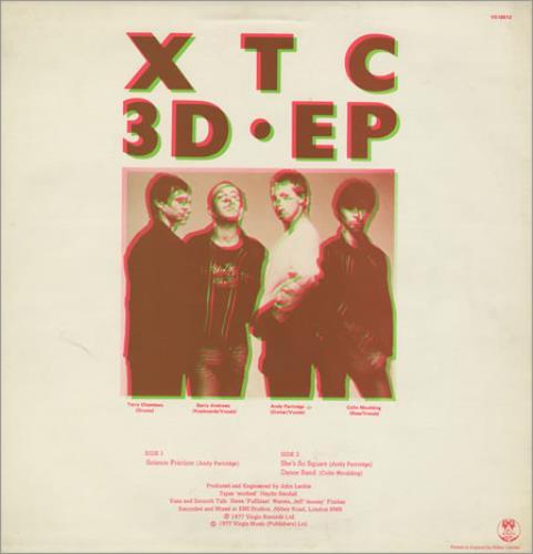 "XTC 3D EP - EX 12"" vinyl single (12 inch record / Maxi-single) UK XTC12DE128906"
