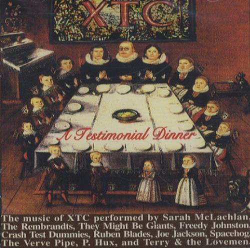 XTC A Testimonial Dinner - Various CD album (CDLP) US XTCCDAT60610