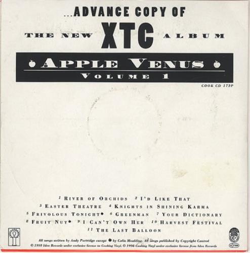 XTC Apple Venus CD album (CDLP) UK XTCCDAP131729
