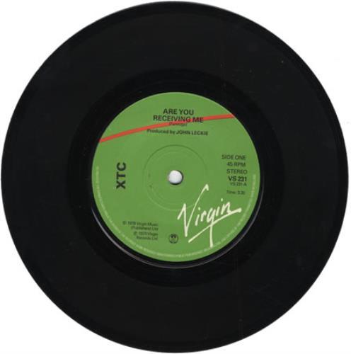 "XTC Are You Receiving Me 7"" vinyl single (7 inch record) UK XTC07AR396178"