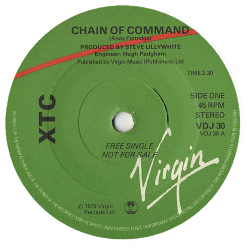 "XTC Chain Of Command 7"" vinyl single (7 inch record) UK XTC07CH449256"