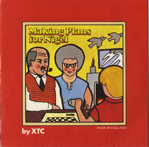 "XTC Making Plans For Nigel - Grey labels 7"" vinyl single (7 inch record) UK XTC07MA459690"