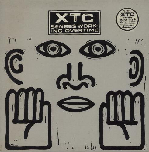 "XTC Senses Working Overtime - Stickered Sleeve 12"" vinyl single (12 inch record / Maxi-single) UK XTC12SE69041"