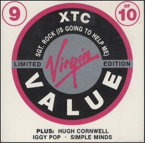 "XTC Sgt Rock - Virgin Value 4-track CD 3"" CD single (CD3) UK XTCC3SG83735"