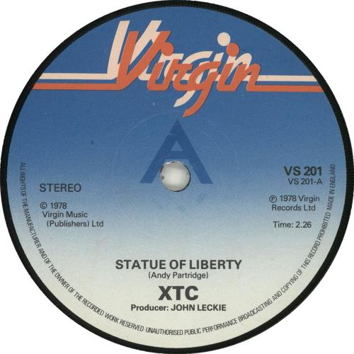 "XTC Statue Of Liberty - A Label - P/S 7"" vinyl single (7 inch record) UK XTC07ST702233"