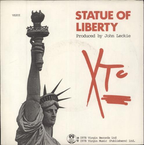"XTC Statue Of Liberty 7"" vinyl single (7 inch record) UK XTC07ST68977"