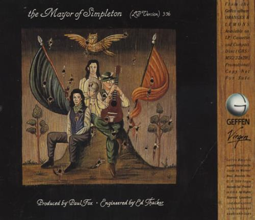 "XTC The Mayor Of Simpleton CD single (CD5 / 5"") US XTCC5TH08297"