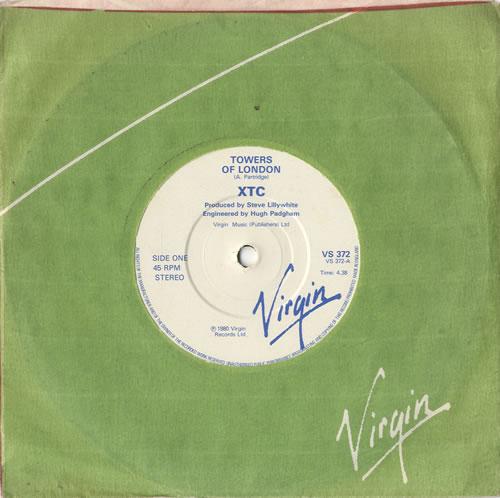 "XTC Towers Of London 7"" vinyl single (7 inch record) UK XTC07TO584211"