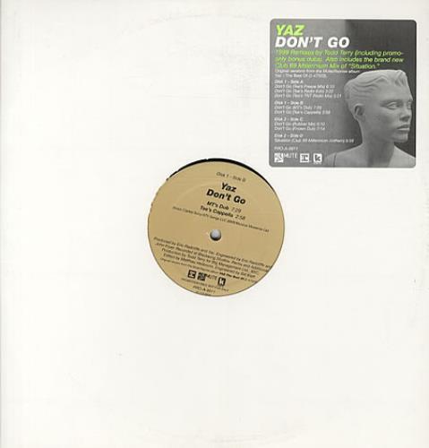 "Yazoo Don't Go 12"" vinyl single (12 inch record / Maxi-single) US YAZ12DO148236"