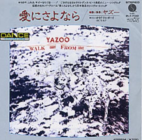 "Yazoo Walk Away From Love 7"" vinyl single (7 inch record) Japanese YAZ07WA135491"