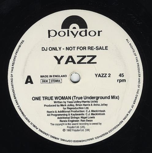 "Yazz One True Woman 12"" vinyl single (12 inch record / Maxi-single) UK YZZ12ON187565"