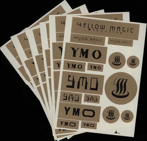 Yellow Magic Orchestra Yellow Magic Orchestra Sticker Sheets - Six Sheets memorabilia Japanese YMOMMYE640251