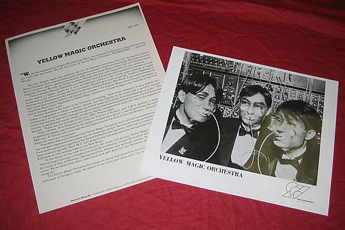 Yellow Magic Orchestra Yellow Magic Orchestra media press pack US YMOPPYE339781
