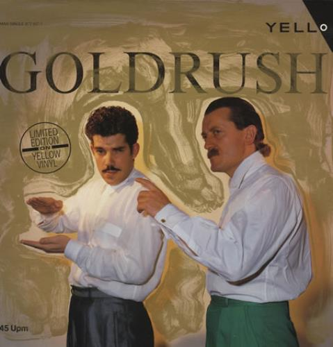 "Yello Goldrush - Yellow Vinyl 12"" vinyl single (12 inch record / Maxi-single) German YEL12GO392971"