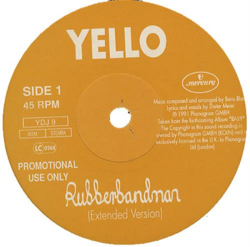 "Yello Rubberbandman 12"" vinyl single (12 inch record / Maxi-single) UK YEL12RU13356"