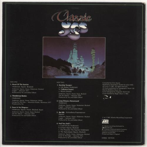 "Yes Classic Yes + Live 7"" vinyl LP album (LP record) German YESLPCL732125"