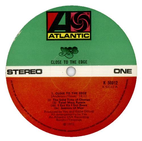Yes Close To The Edge - 1st + Inner UK vinyl LP album (LP