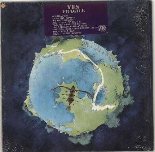 Yes Fragile - Stickered Shrink vinyl LP album (LP record) US YESLPFR723142