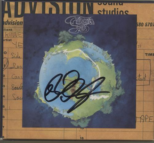 Yes Fragile Remastered - Autographed by Rick CD album (CDLP) US YESCDFR712890