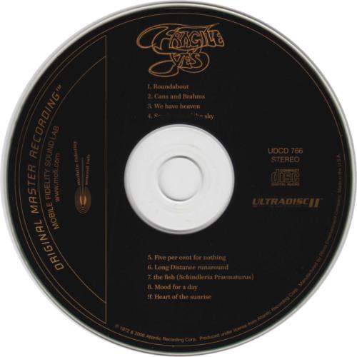 Yes Fragile CD album (CDLP) US YESCDFR381226