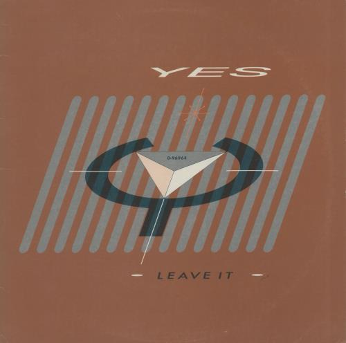 "Yes Leave It 12"" vinyl single (12 inch record / Maxi-single) US YES12LE760313"