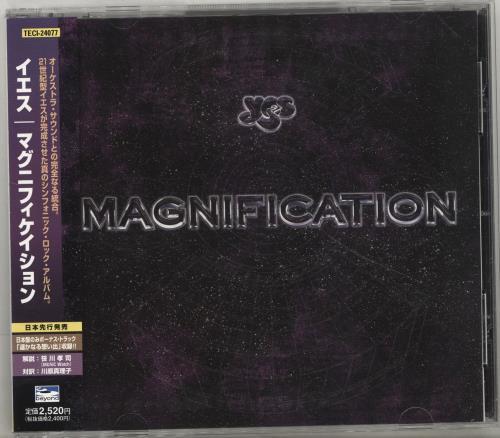 Yes Magnification CD album (CDLP) Japanese YESCDMA271549
