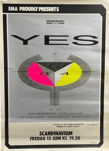 Yes Scandinavium Arena 1984 poster Swedish YESPOSC722930