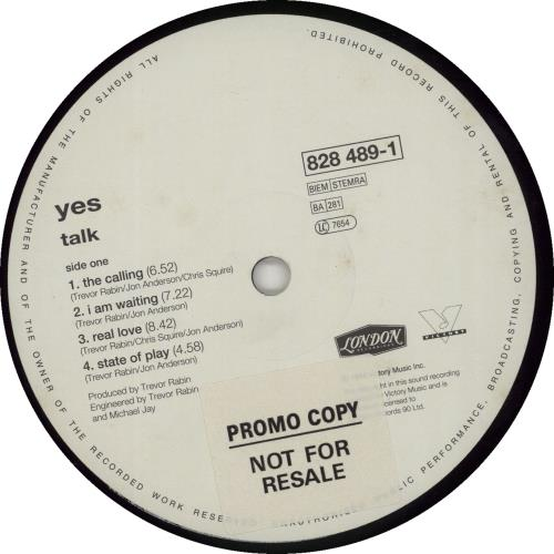 Yes Talk vinyl LP album (LP record) UK YESLPTA681604
