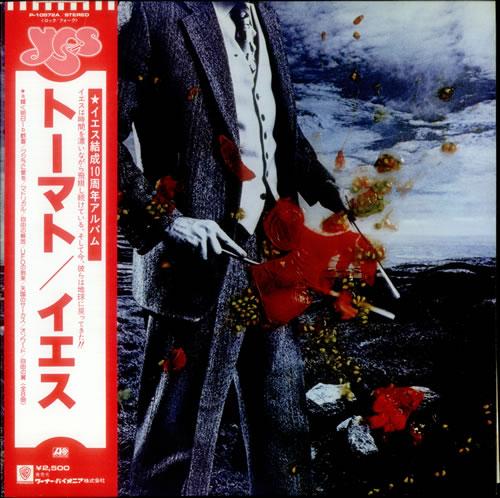 Yes Tormato Bonus Metallic Sticker Japanese Vinyl Lp