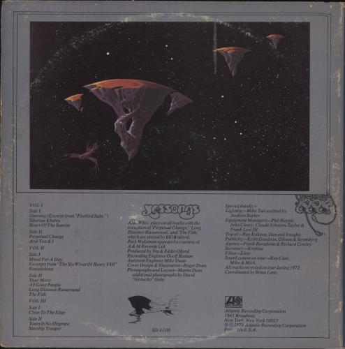 Yes Yessongs 3-LP vinyl record set (Triple Album) Canadian YES3LYE688448