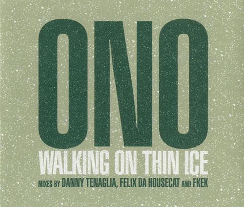 Yoko Ono Walking On Thin Ice 2-CD single set (Double CD single) UK ONO2SWA247337