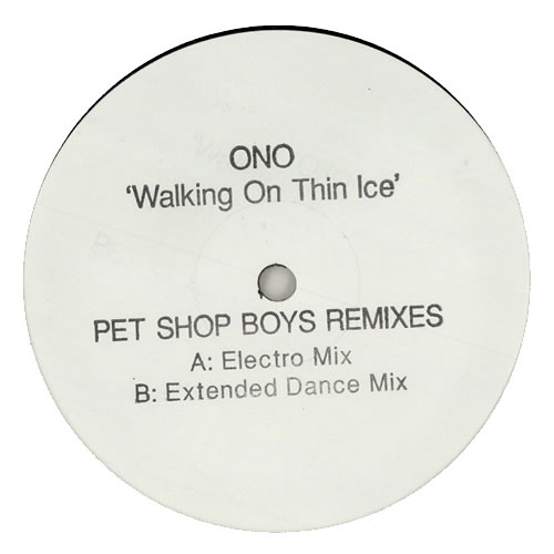 "Yoko Ono Walking On Thin Ice 12"" vinyl single (12 inch record / Maxi-single) UK ONO12WA250318"