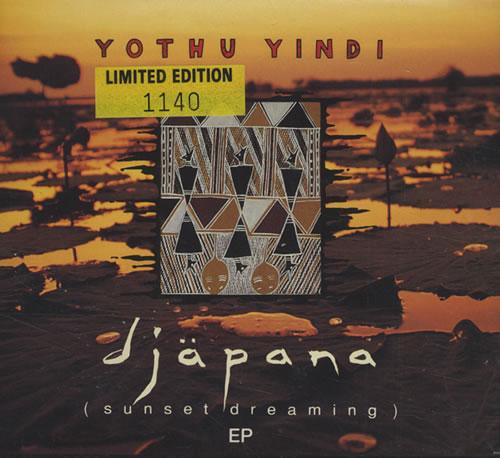 Yothu Yindi Djapana (Sunset Dreaming) EP UK CD single (CD5 / 5