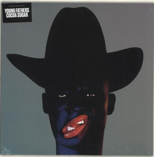 Young Fathers Cocoa Sugar - Blue Vinyl - Sealed vinyl LP album (LP record) UK YS1LPCO692263