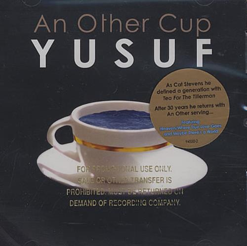 Yusuf Islam An Other Cup - Gold Promotional Stamped Picture Sleeve CD album (CDLP) US YUFCDAN382831