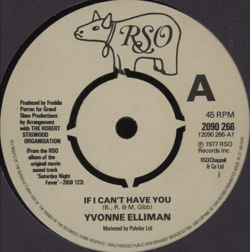 """Yvonne Elliman If I Can't Have You - 4pr 7"""" vinyl single (7 inch record) UK YVN07IF680831"""