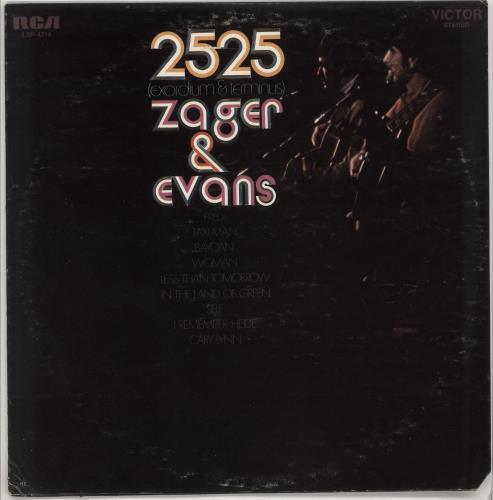 Zager & Evans 2525 (Exordium & Terminus) - VG vinyl LP album (LP record) US Z&ELPEX727945
