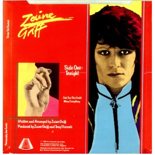 "Zaine Griff Tonight 7"" vinyl single (7 inch record) UK ZGR07TO147584"