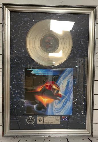ZZ Top Afterburner award disc Australian ZZTAWAF226638