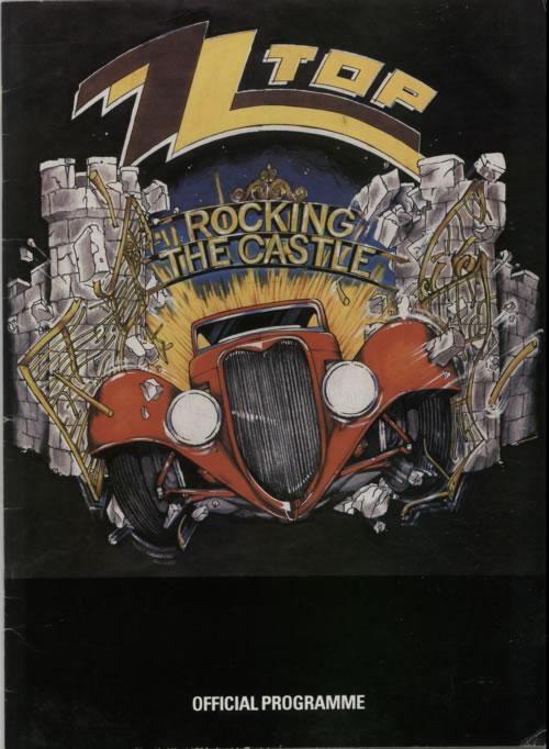 ZZ Top Rocking The Castle + Ticket Stub tour programme UK ZZTTRRO620265