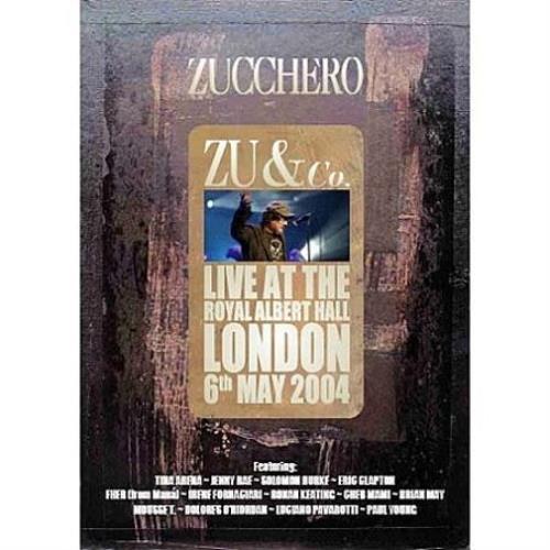 Zucchero Zu & Co - Live At The Royal Albert Hall DVD UK ZUCDDZU335759